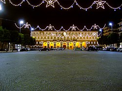 Palazzo Cesarini-Sforza, the Tounhaw o Civitanova Marche, decoratit for the Christmas feasts
