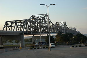 Interstate 74 - Murray Baker Bridge over the Illinois River in Peoria, Illinois.