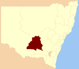 Electoral district of Murrumbidgee - Location in New South Wales