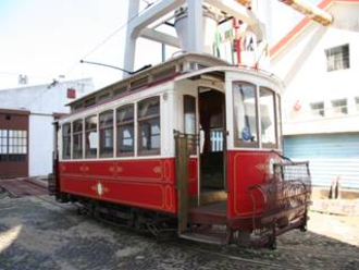 St. Louis Car Company - One of the two surviving Lisbon trams of type São Luís (series 400-474), set apart and upholstered in luxury in 1965 for tourist duty from the original batch of 75 cars, imported in 1901 and retired up to 1973.