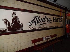 Akubra - Akubra heritage signage, Museum Railway Station, Sydney