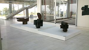 Contemporary Art Museum of Macedonia - Sculpture exhibition space in the museum
