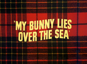 My Bunny Lies over the Sea - Title card for My Bunny Lies over the Sea