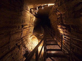 Forestville Mystery Cave State Park - A passage in Mystery Cave