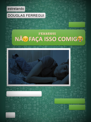 The theatrical release poster for Não Faça Isso Comigo, showing the main character, Rodrigo, lying on the bed with his eyes closed.
