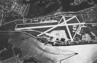 Naval Support Facility Anacostia - Aerial view of NAS Anacostia in the mid-1940s