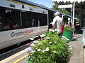 NBA Newport Station train and flowers July 2012.JPG