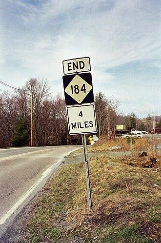 Banner Elk, North Carolina - Image: NC184 End in 4 Miles Sign