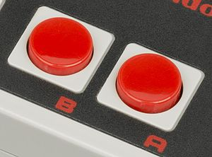 Gamepad - NES B and A face buttons.