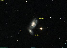 Les galaxies NGC 935 et IC 1801