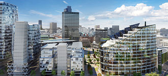Economy of Manchester - The Co-Operative Group's NOMA development currently under construction