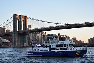 New York City Police Department - Police boat patrolling the East River