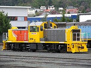New Zealand DSG class locomotive - DSG 3114 in Dunedin.
