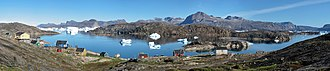 Upernavik Archipelago - Panorama of Naajaat, the second-smallest settlement