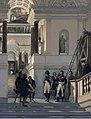 Napoléon Ier visitant l'escalier du musée du LouvreFXD.jpg