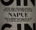Napue rye gin label by the Kyrö Distillery Company