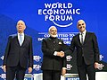 Narendra Modi with the President of the Swiss Confederation, Mr. Alain Berset and the Chairman of the World Economic Forum, Professor Klaus Schwab, at the plenary session of the World Economic Forum, in Davos (1).jpg