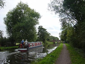 Way for the Millennium - Section of the Way for the Millennium on the towpath of the Trent and Mersey Canal