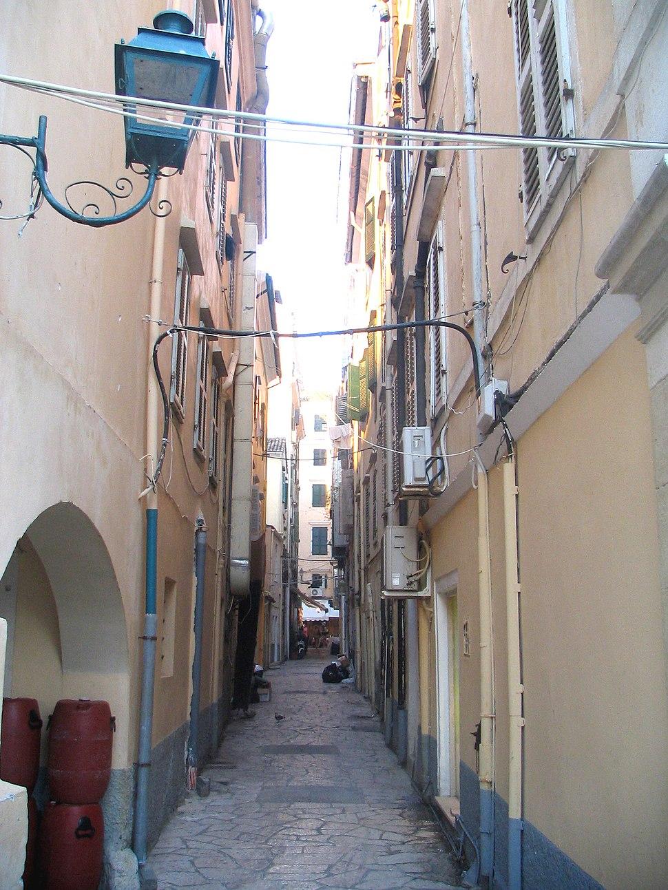 Narrow street corfu