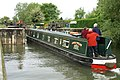 Narrowboat entering Eynsham Lock - geograph.org.uk - 909223.jpg