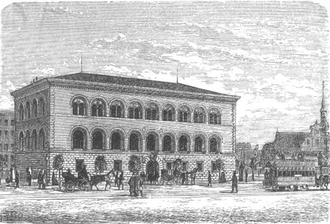 Danmarks Nationalbank - The old building in 1899.