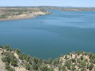 Navajo Dam - Navajo Lake and back side of Navajo Dam