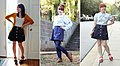 Navy Blue Forever 21 Button Down Skirt Worn Multiple Ways (21855945028).jpg