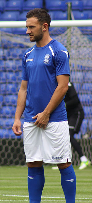 Neal Eardley - With Birmingham City in 2013 pre-season