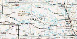 Geographische Karte Nebraskas