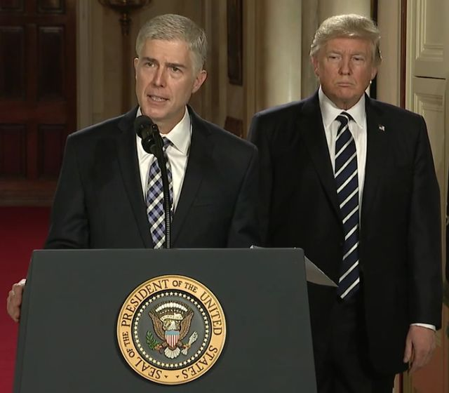 Neil Gorsuch and Donald Trump
