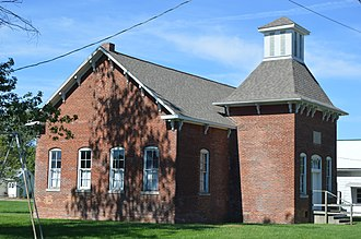 New Goshen, Indiana - Former school on Rangeline Place