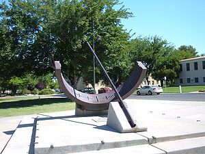 University Park, New Mexico - Sundial in front of Hadley Hall