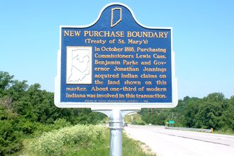 Treaty of St. Mary's - A marker on the border of the purchase near Delphi, Indiana.