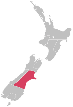 Canterbury Province within New Zealand post 1868