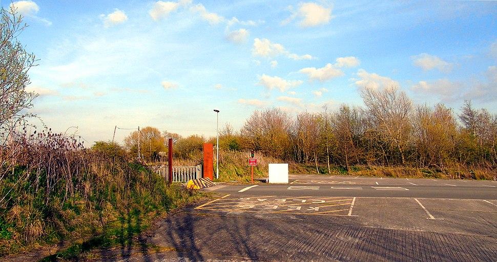 Newport Wetlands RSPB Reserve Car Park Exit