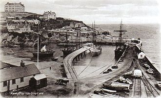 Cornwall Minerals Railway - Newquay Harbour in 1904
