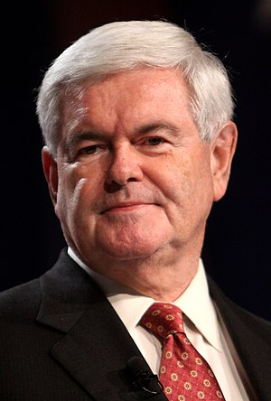 Republican Party vice presidential candidate selection, 2016 - Image: Newt Gingrich (6238567189) (cropped)