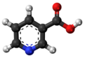 Aromatized ball and stick model of niacin