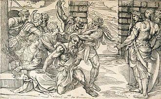 Niccolò Boldrini - Samson and Delilah; by Niccolò Boldrini