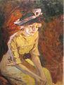 Nicolae Vermont - Doamna in rochie galbena.jpg