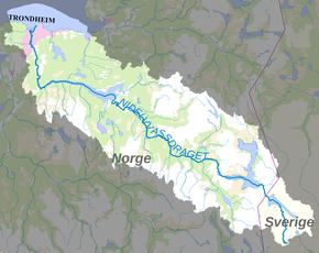 nidelva kart Nea Nidelvvassdraget – Wikipedia