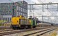 Nijmegen Shunter 203 102 met Nedtrain 702 op sleep (17381528751).jpg