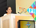 Nirmala Sitharaman addressing at the presentation ceremony of the FIEO's 'Niryat Shree' and 'Niryat Bandhu' Awards to outstanding Exports, Service Providers, Best performing Banks and EPCs.jpg