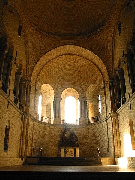 Nivelles   (Belgium),  western apse of the St. Gertrude Collegiate (XI/XIIIth century).