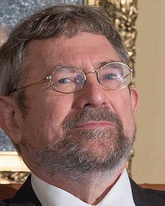 J. Michael Kosterlitz - Michael Kosterlitz at Nobel press conference in Stockholm, Sweden, December 2016