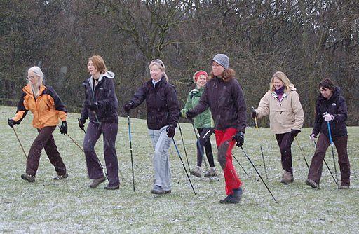 Nordic Walkers near Ilkley 020