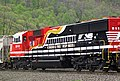 Norfolk Southern Railway - 911 diesel locomotive (SD60E) (Horseshoe Curve, Pennsylvania, USA) 1 (27041540145).jpg