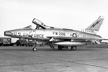 8th Tactical Fighter Squadron F 100D Super Sabre At Tain Rouvres AB