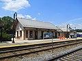 North Billerica station building from northbound platform, July 2015.JPG