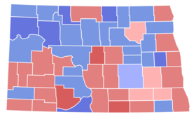 North Dakota Special Senate Election Results by County, 1960.png